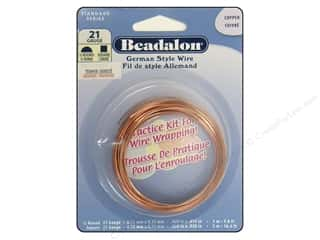 beadalon copper wire: Beadalon German Style Wire 21ga Half Round and Square Copper 16.4 ft.