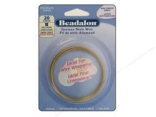 Beadalon German Style Wire 20ga Fancy Square Brass 6.5 ft.