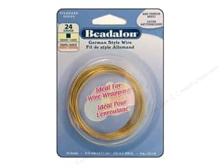 Beadalon German Style Wire Square 24ga Brass 4M