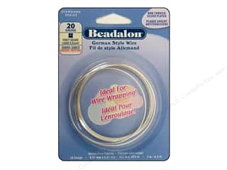 silver Wire Beading & Jewelry Making Supplies Wirework: Beadalon German Style Wire 20ga Fancy Square Silver Plated 6.5 ft.