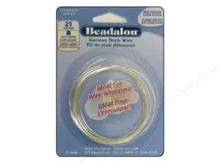 Beadalon German Style Wire Sq Fancy 21ga Slv 2.5M