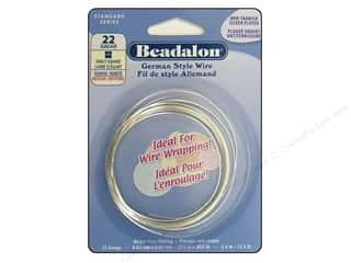 Fibre-Craft wire: Beadalon German Wire 22ga Fancy Square Silver 11.5 ft.