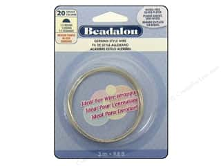Fibre-Craft wire: Beadalon German Wire 20ga Half Round Silver Plated 9.8 ft.