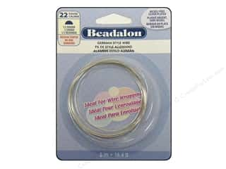 Beadalon German Wire 22ga Half Round Silver Plated 16.4ft