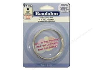 Beadalon German Style Wire Sq 20ga Slv 2M