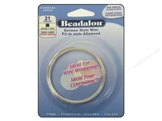 Clearance Beadalon German Style Wire: Beadalon German Wire 21ga Square Silver Plated 8.2 ft.