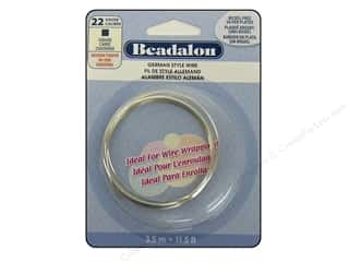 "Brass Rings 11"": Beadalon German Style Wire 22ga Square Silver Plated 11.5 ft."