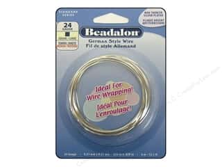 Beadalon German Wire 24ga Square Silver Plated 13.1 ft