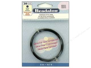 beadalon copper wire: Beadalon German Style Wire Rnd 20ga Hematite 6M