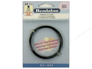 beadalon copper wire: Beadalon German Style Wire Rnd 22ga Hematite 10M