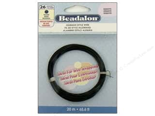 beadalon copper wire: Beadalon German Style Wire Rnd 26ga Hematite 20M