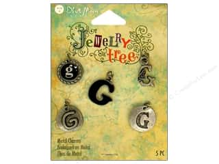 Blue Moon Charm JT Metal Letter G Oxidized Silver