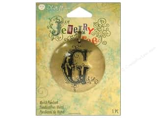 Blue Moon Pendant JT Metal Letter G Ox Brass