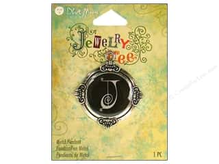 "Clearance Blumenthal Favorite Findings: Blue Moon Metal Pendant Antique Silver Letter ""J"""