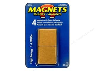"The Magnet Source Magnet 1"" Square High Energy Adhesive Flexible 4pc"