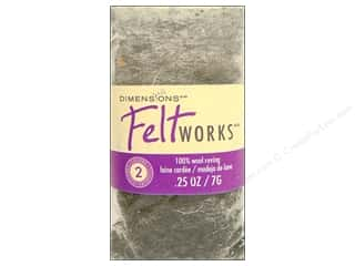 Dimensions Feltworks 100% Wool Roving Pebble/Granite