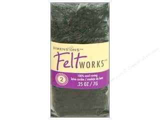 Wool Dimensions 100% Wool Roving: Dimensions Feltworks 100% Wool Roving Smoke/Charcoal