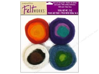 Dimensions Feltwork 100% Wool Roving Rolls Multi