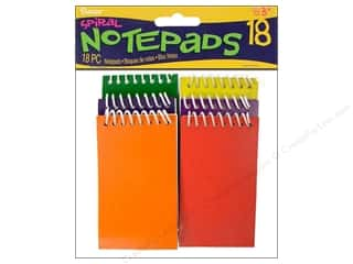 Darice Office Spiral Notepads Primary Astd 18pc