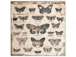Tim Holtz District Market Burlap Panel Butterflies