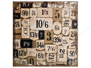 Tim Holtz District Market Burlap Panel Numeric