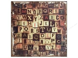 Tim Holtz District Market Burlap Panel Alphabetical