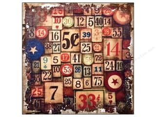Tim Holtz District Market Burlap Panel Amusement