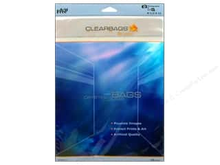 Plastics Clear: ClearBags Crystal Clear Bag 8 1/2 x 11 in. Photo 25 pc.