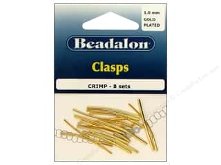Beadalon Clasp Criimp 1.0mm Gold 8 sets