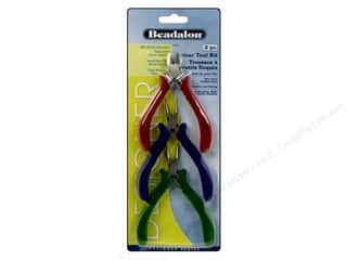 round nose pliers: Beadalon Tools Kit Velour Handle 3pc