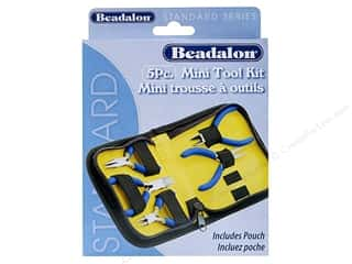 pliers flat nose: Beadalon Tools Kit Zip Pouch Mini 5pc