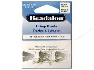 Clearance Blumenthal Favorite Findings: Beadalon Crimp Beads 3 mm Silver Plated .05 oz.