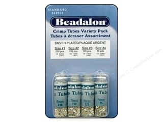 Beadalon Crimp Tube Value Pack Size 1 - 4 Silver Plated 600 pc.