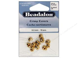 Clearance Blumenthal Favorite Findings: Beadalon Crimp Covers 6mm Gold Plated 18pc