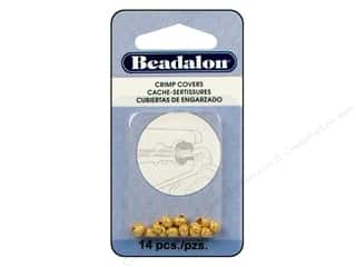 Clearance Blumenthal Favorite Findings: Beadalon Crimp Covers 4mm Sparkle Gold Plated 14pc.
