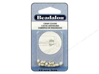 Crimpers: Beadalon Crimp Covers 4 mm Sparkle Silver Plated 14 pc.