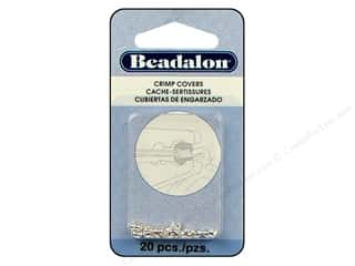Crimpers: Beadalon Crimp Covers 3 mm Silver Plated 20 pc.