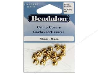 Clearance Blumenthal Favorite Findings: Beadalon Crimp Covers 7mm Gold 16pc