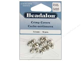 Beadalon Beadalon Crimp: Beadalon Crimp Covers 7 mm Silver Plated 16 pc.