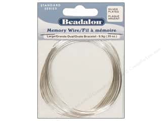 Beadalon Plated Steel Memory Wire Large Oval Bracelet Silver .35 oz.