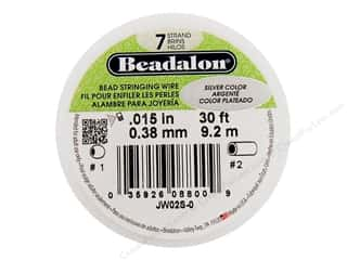 "7"" wire: Beadalon Bead Wire 7 Strand .015in. Metallic Silver 30ft"