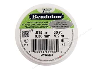 silver jewelry wire: Beadalon Bead Wire 7 Strand .015 in. Satin Silver 30 ft. (3 feet)