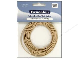 Beadalon Indian Leather 1.5mm Natural 5m