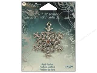 Blue Moon Pendant WS Metal Snowflake Slvr