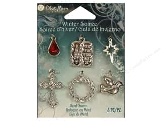 Blue Moon Charm WS Metal Spiritual Silver 6pc