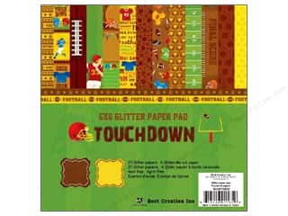 Best Creation Paper Pad Glitter 6&quot;x 6&quot; Touchdown