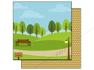 Best Creation 12 x 12 in. Paper Puppy Love Dog Park (25 sheets)