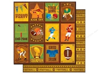 Best Creation Paper 12x12 Touchdown Tailgate Tags (25 sheets)