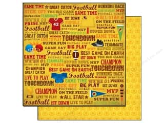 2013 Crafties - Best Adhesive: Best Creation 12 x 12 in. Paper Touchdown Game Time (25 sheets)