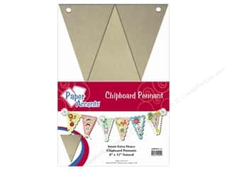 "Paper Accents Chipboard Pennants 8""x 12"" Natural 7pc"